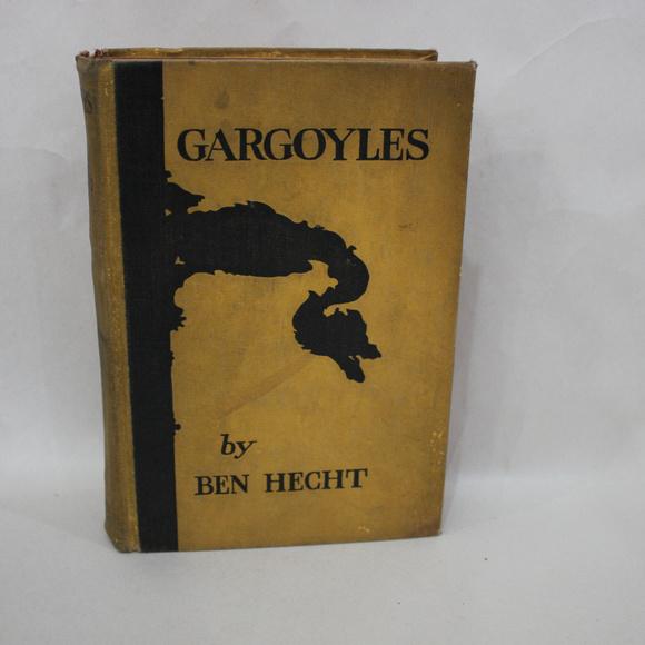 Other - Gargoyles Ben Hecht Vintage Yellow Hardcover Book
